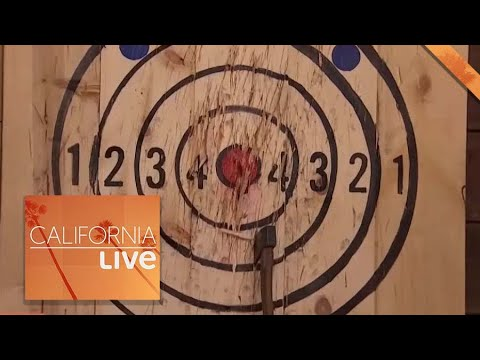 Ax Throwing At The Winchester Mystery House | California Live | NBCLA