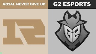 RNG vs G2 Game 5 - Worlds 2018 Quarterfinals - Royal Never Give Up vs G2 Esports G5
