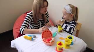 Уроки английского для малышей.  Делаем зубки Зубастику и учим английский язык