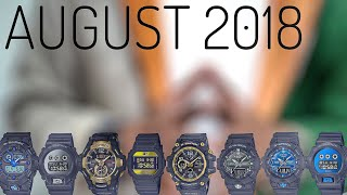 AUGUST 2018 New Release G-SHOCK watches - first impression
