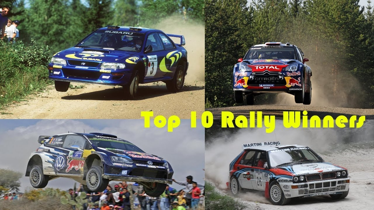 Rally Cars TOP 10 WRC Winners (Pure Sound) Full HD - YouTube