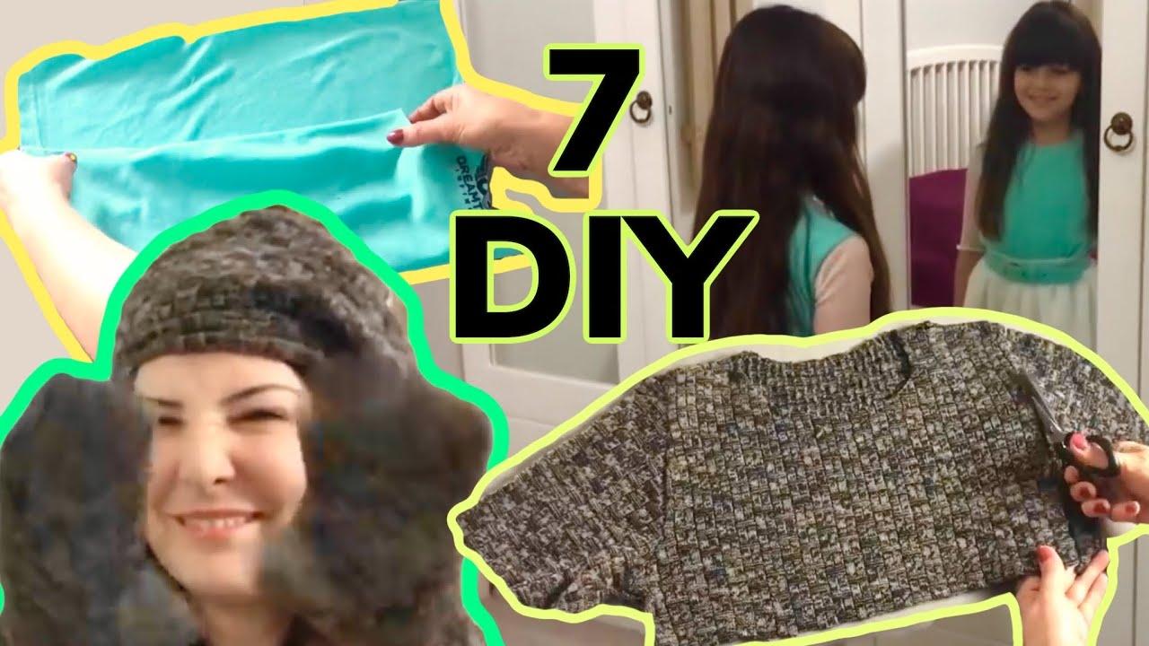 7 İNANILMAZ FİKİR ♥ Eski Giysilerden Süper Kolay Geri Dönüşüm Fikirleri