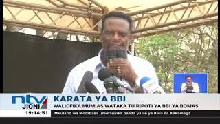Karata ya BBI: Viongozi wanaomuunga mkono DP Ruto wakutana Mumias