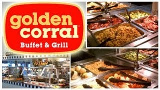 Американский завтрак в ресторане Golden Corral Orlando Florida 09.03.2014