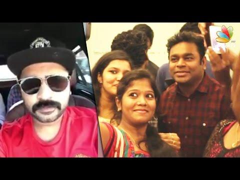 Iraivanuku Nandri : Simbu, AR Rahman at Sathyam Cinemas | Achcham Yenbadhu Madamaiyada
