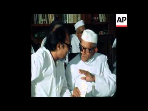 SYND 24 3 77 NEW PRIME MINISTER MORARJI DESAI DISCUSSES PARTY MERGER
