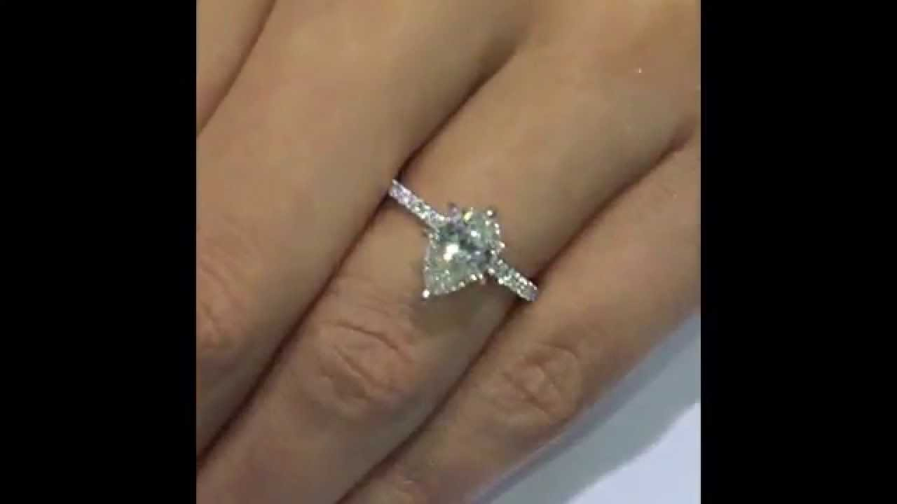 emerald pear ring engagement diamond