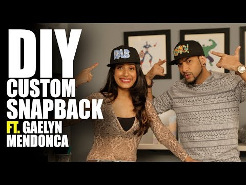 DIY Custom Snapback Feat. Gaelyn | MadStuffWithRob