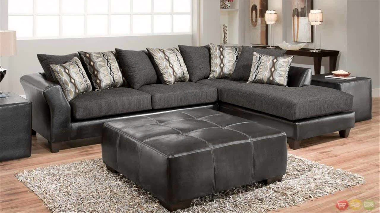 Best of Grey Microfiber Sectional Sofa - YouTube