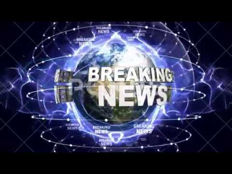 BREAKING NEWS Text Animation and Earth, CGI, Rendering, Background, 4k