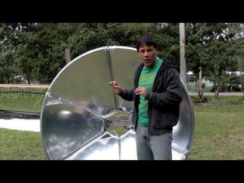 """SOLAR PARABOLIC MIRROR SOLAR DISH 65"""" diameter 165cm"""