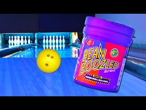 Bean Boozled Challenge Bowling Edition! Loser Eats Gross Jelly Bean Flavor! 4th Edition
