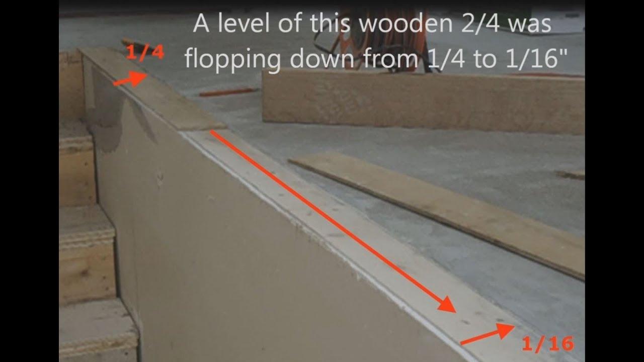 How To Level Concrete Subfloor For Laminate Hardwood Stair