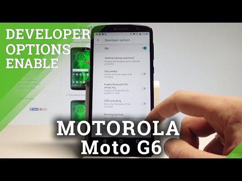 How To Enable Developer Options On MOTOROLA Moto G6 - USB Debugging & OEM Unlock