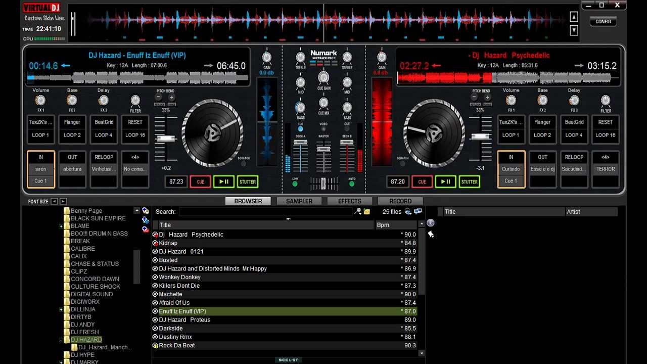 Numark ns7 skin virtual dj download | How do you setup the