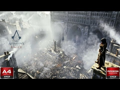 Assassin's Creed Unity Gameplay : AMD A4 6300 R7 250 (720p) |