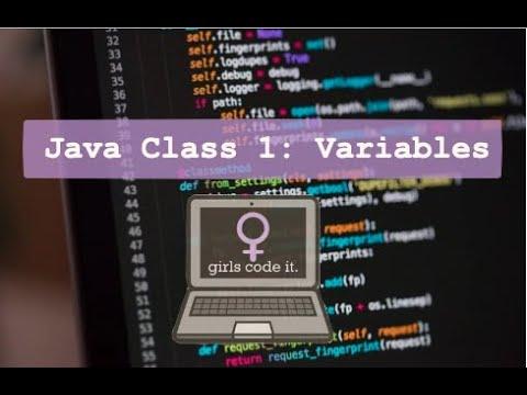 Java Class 1: Variables