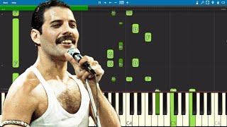 Queen - We Are The Champions Piano Parts ONLY - Tutorial