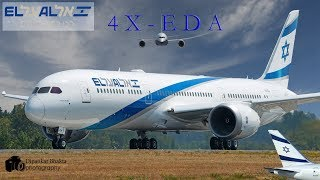 El Al Israel Airlines First 787-9 (4X-EDA) Fully Painted Landing+RTO+High Speed Taxi