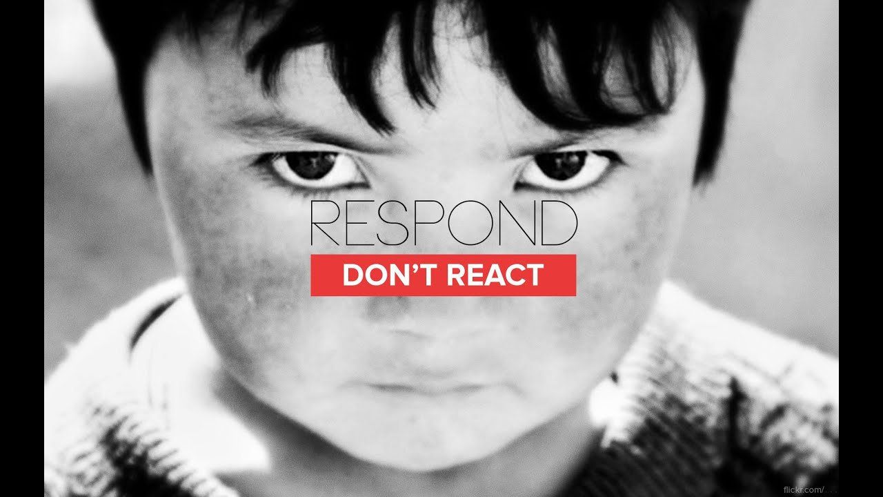 Respond, Don't React - Peter Tan-chi - YouTube