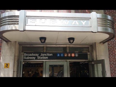 MTA NYC Subway: R32, R42, R46, R143 & R160 (A) (C) (J) (L) (M) Trains @ Broadway Junction