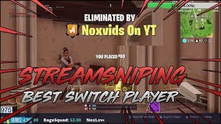 Streamsniping the Best Nintendo Switch Fortnite Player (iFranco)