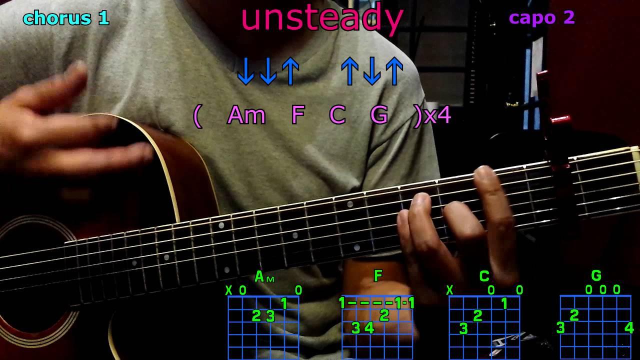 Unsteady X Ambassadors Guitar Chords Youtube