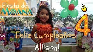 Mi fiesta de cumpleaños en mcdonalds 🎂  Cumpleaños de Allison  🎁 Fiesta de Moana