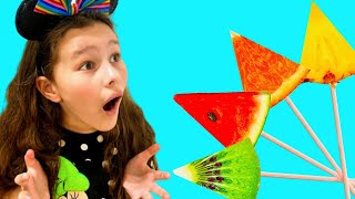 Learn Colors with Fruits Song | Emi and Niki Nursery Rhymes & Kids Songs