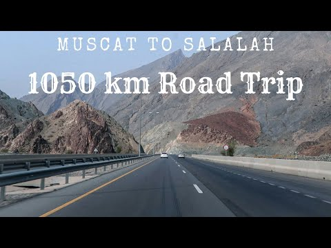 Muscat to Salalah by Road | 1050+ Km drive in Oman 🇴🇲 | Best of the roads in Gulf