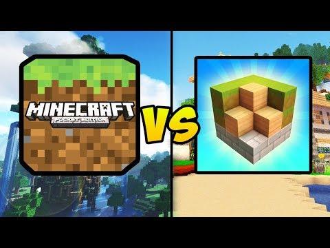 """MINECRAFT POCKET EDITION VS BLOCK CRAFT 3D"" (Minecraft PE, BlockCraft, Mobile Games, iOS, Android)"