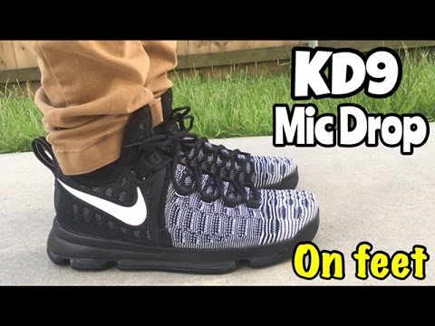 87e54a22f4233 Nike KD 9 from  ChampsSports on feet - YouTube