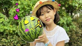 라임의 여름 수박 먹방 Watermelon Food Dessert Mukbang | LimeTube