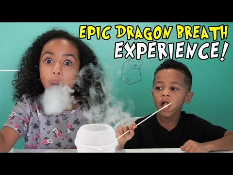 Kids have an epic DRAGON'S BREATH experience.. a dessert made with liquid nitrogen!