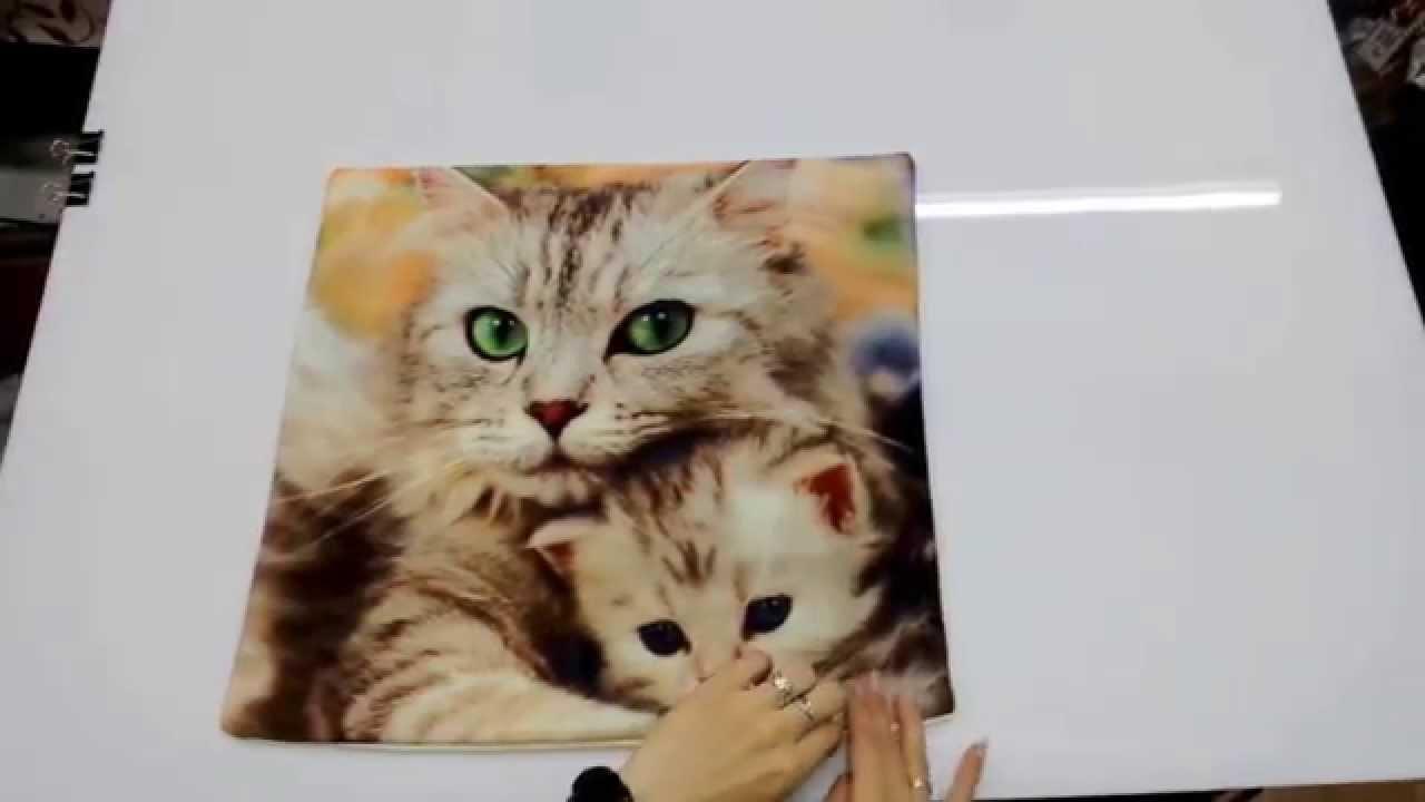Наволочка декоративная Кошка с котенком - YouTube