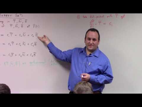 Multivariate Calculus: Frenet Serret Equations, curvature, torsion, 1-30-17