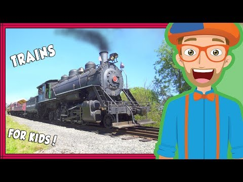 Thumbnail: Trains for Kids by Blippi | Educational Videos for Toddlers and Children