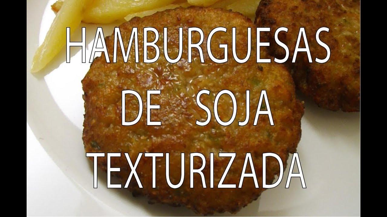 receta hamburguesas veganas soja texturizada