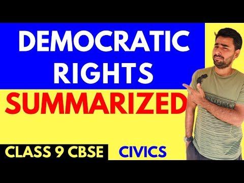 DEMOCRATIC RIGHTS | CLASS 9 CIVICS(DP)