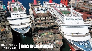 How $300 Million Cruise Ships Are Demolished | Big Business