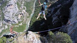 Gorges du Verdon - Rope jump 240m