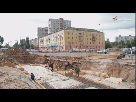 В Серпухове в самом разгаре работы по благоустройству привокзальной площади