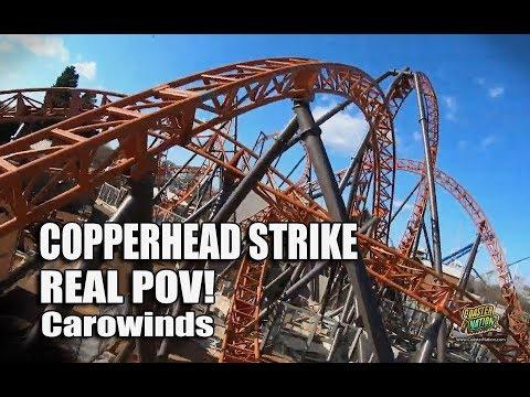 Copperhead Strike REAL POV - Carowinds 2019 Roller Coaster