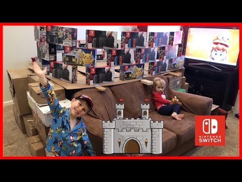 how-to-build-a-nintendo-switch-box-fort-castle!-24-hour-box-fort-challenge!