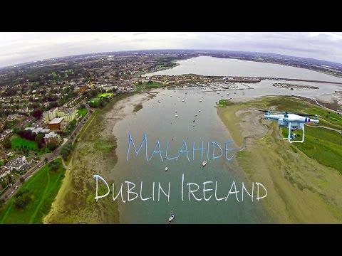 Drone Aerial view Malahide, Co Dublin, Ireland
