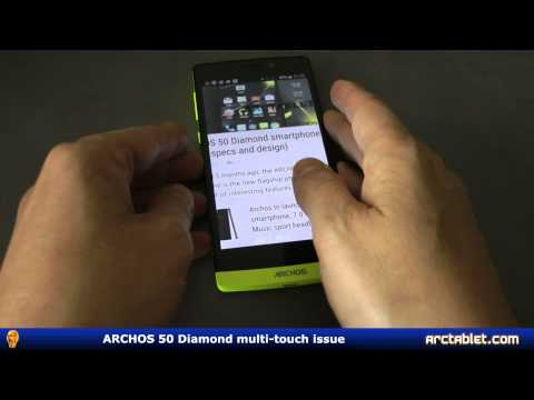 ARCHOS 50 Diamond multi-touch issue