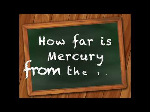 How far is Mercury from the Sun? | Answer