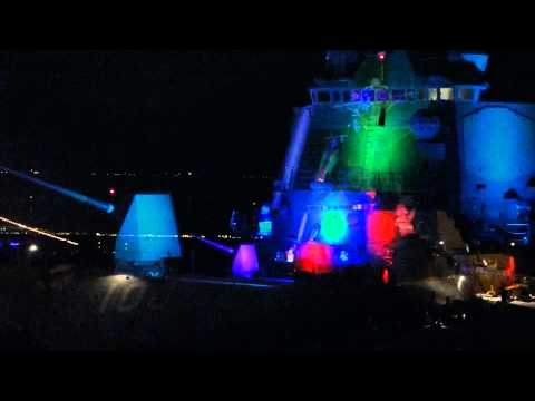 USS KIDD (DDG 100) - Carol of the Bells 2014