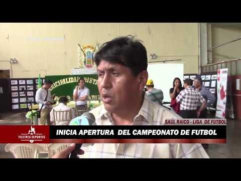 INICIA APERTURA DEL CAMPEONATO DE FUTBOL