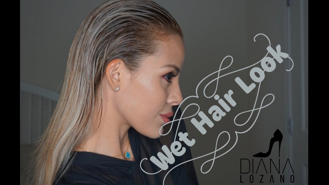 Wet Hair Look - Peinado 👱🏼 ♀ - YouTube